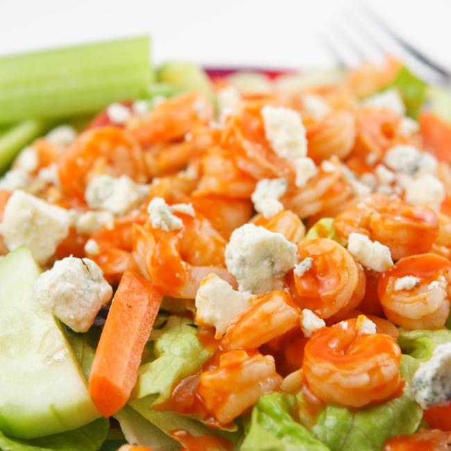 buffalo shrimp salad  u2014 pip and ebby