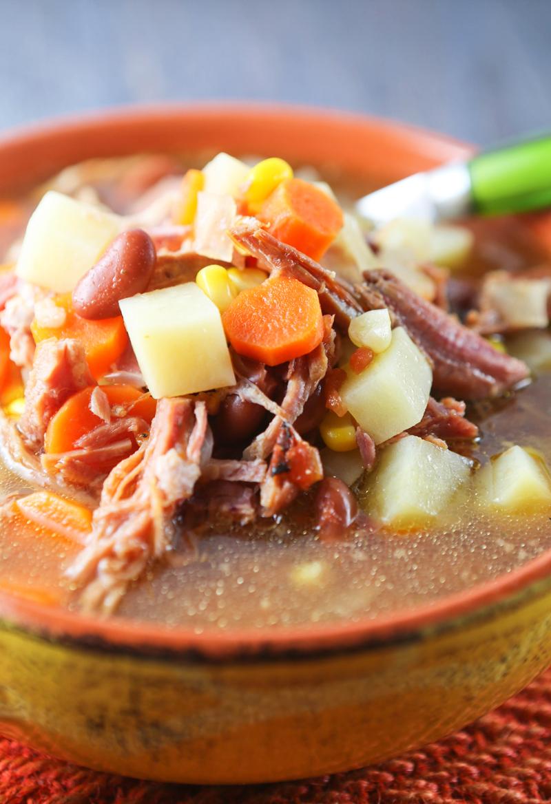 how to cook a bone in ham in the crockpot