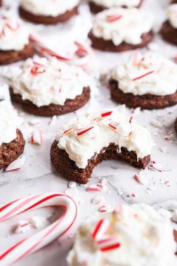 Triple Chocolate Cookies Peppermint Frosting