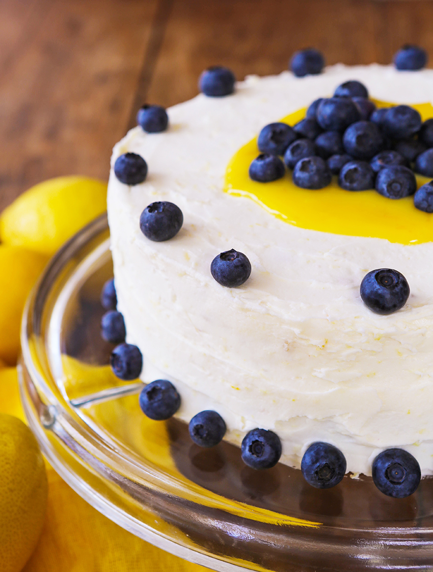 Blueberry Lemon Cake with Lemon Buttercream Frosting