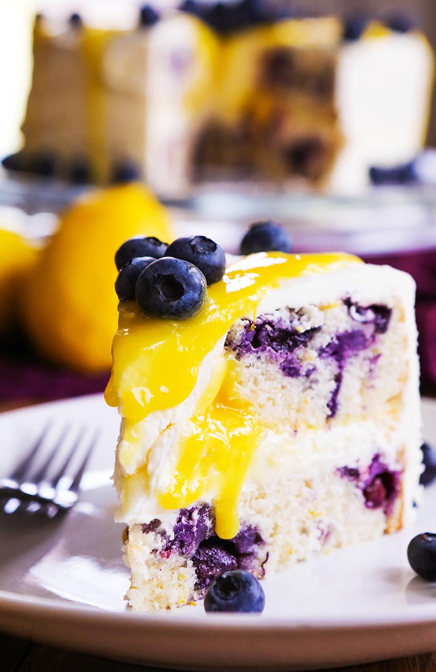 Lemon Blueberry Layer Cake with Lemon Buttercream