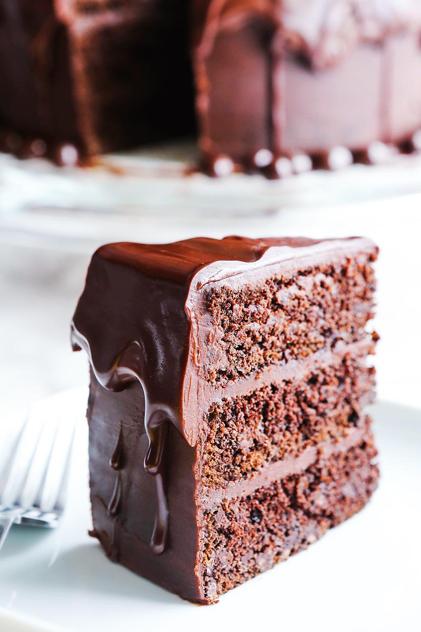 Chocolate Espresso Cake with Ganache