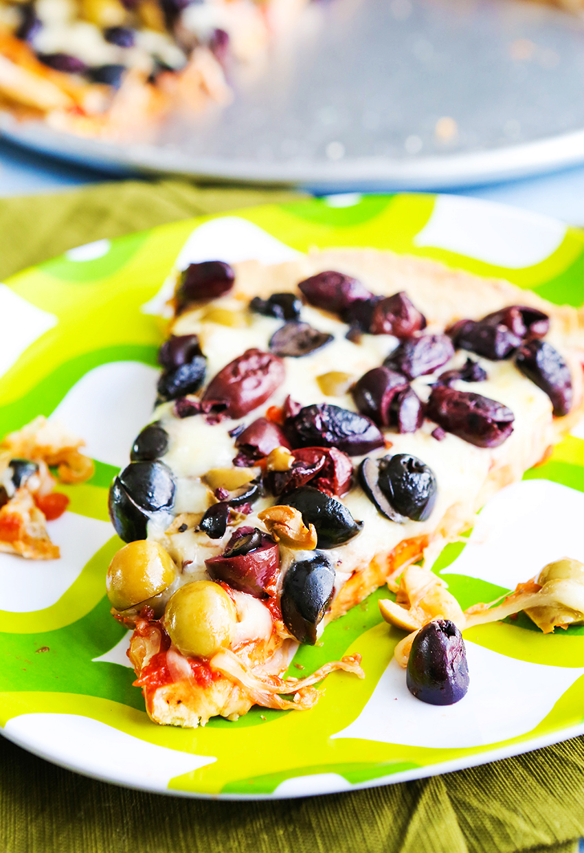 Loaded Olive Pizza