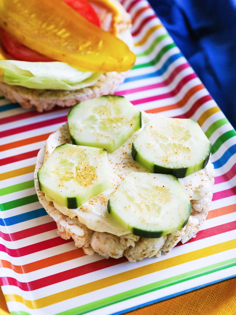 Cucumber+Cream+Cheese+Rice+Cake