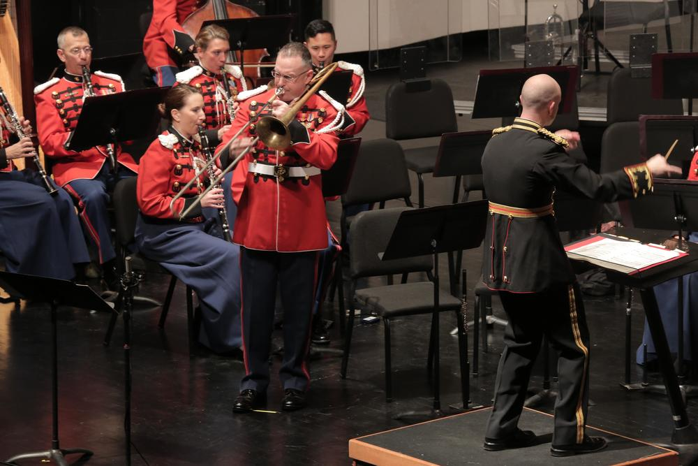 Performing as soloist with the US Marine Band, January 2016.... photo by US Marine Band public affairs