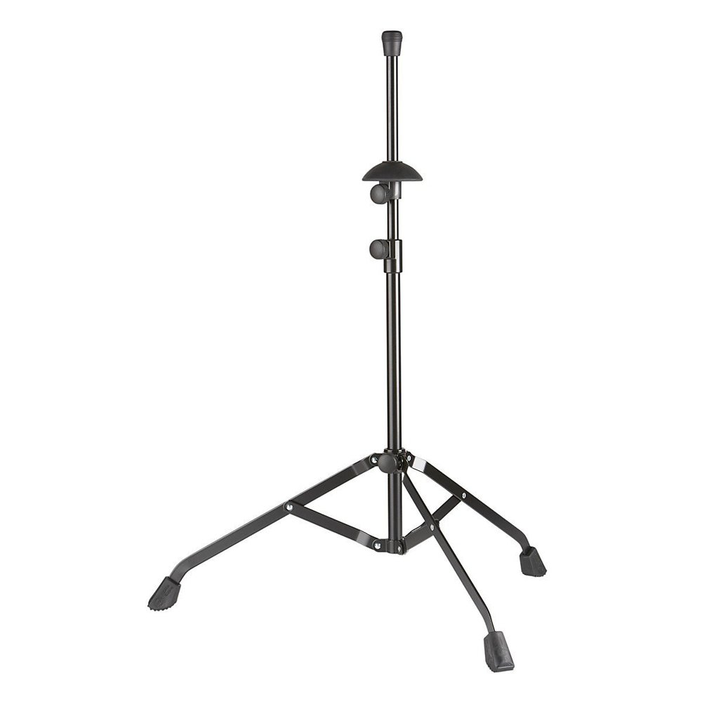 K&M Precision trombone stand - standard size  These stands are just rock solid.  I've knocked my horn over on my old Hamilton stands.  These are adjustable to fit different size bell horns (tenor, bass, alto) so the horn sits solidly on the stand.  Also, the base is quite wide, and if you add a sandbag or two, even rambunctious toddlers generally won't knock them over!