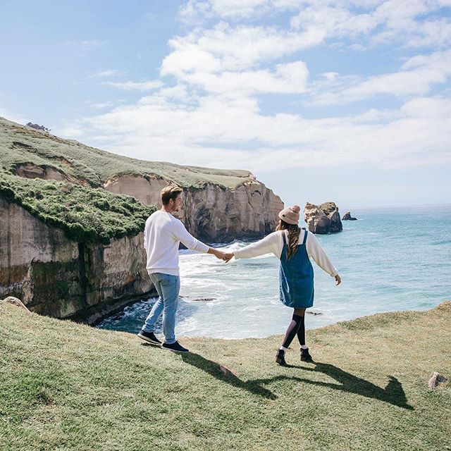 I'm in heaven ✨ we road tripped all over South Island (which I highly recommend, it is one of the most beautiful, diverse places I've ever seen!) we impulsively added tunnel beach to our itinerary and I think it was our best decision yet!