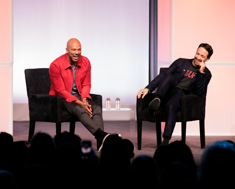 Common and Lin-Manuel Miranda in conversation at the Obama Foundation Summit in November 2017.