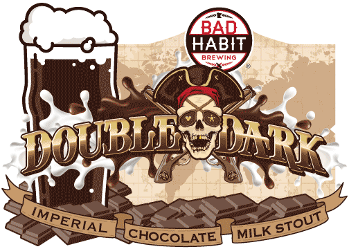 DOUBLE DARK - Imperial Chocolate Milk Stout | 9.5% ABVAhoy, Me Hearties! Shiver me timbers, batton down the hatches, she's a grog which takes no quarter. At 9.5% she's a true clap of thunder, tastier than any bounty, sure to give a flogging to any landlubber. Dark as Davy Jones locker and rich as Captain Black Sam Bellamy, she's brewed with a chest full of lactose and enough chocolate nibs to sink a schooner. A real treasure for any scallywag. Pop a cork and splice the mainbrace, Yo ho ho a pirates life for me!