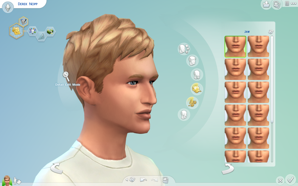 While I was creating a Sim based on my own visage (ooh, don't I sound all fancy?), I accidentally gave myself this nose. I wish I looked that hot. I mean, day-umm.