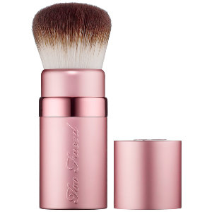 I recommend using this with the Kabuki Brush by Too Faced. It's super, super soft, and blends out powders perfectly. Well worth the money. Sephora, $34