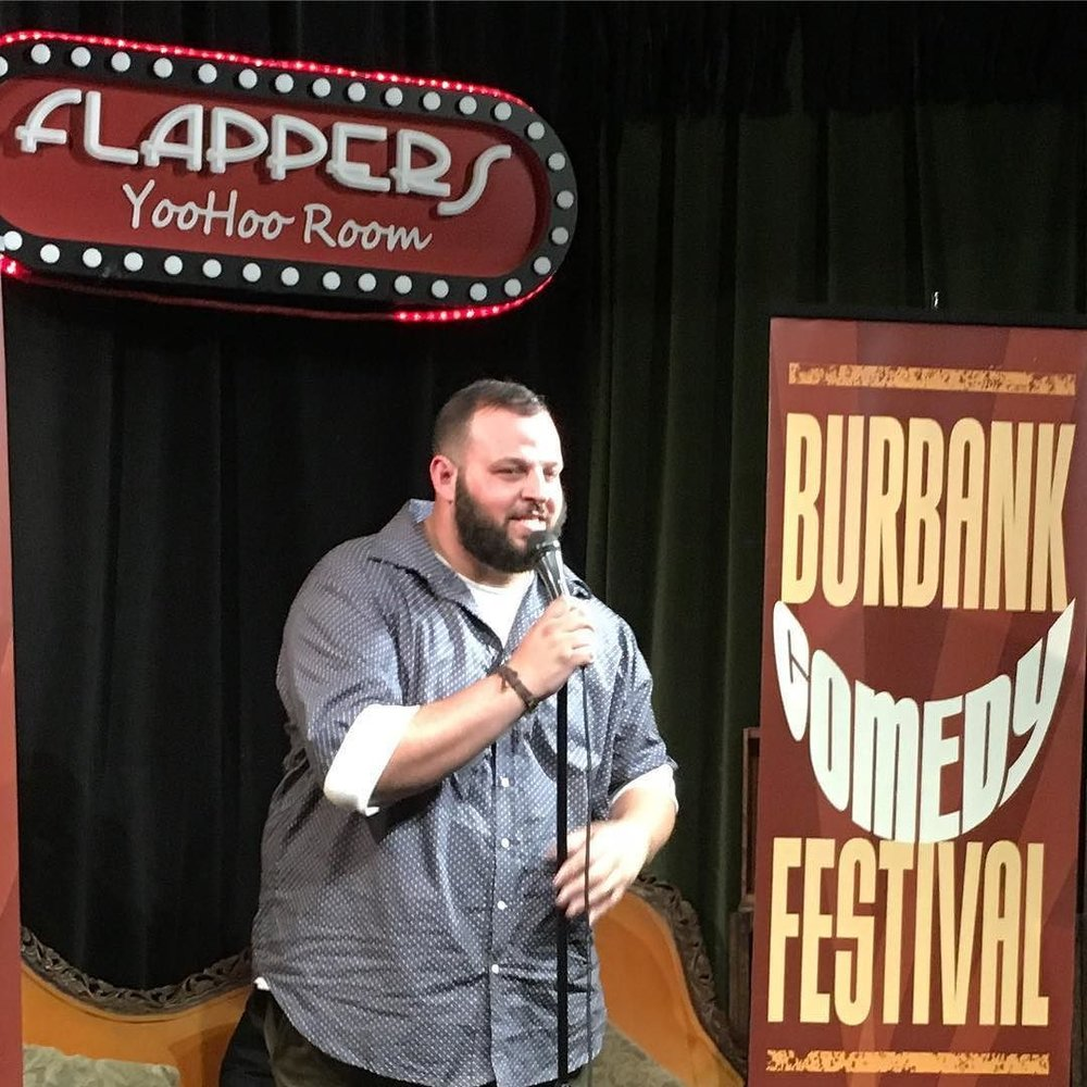 Daniel Franzese performing at Flappers as part of the Burbank Comedy Festival.