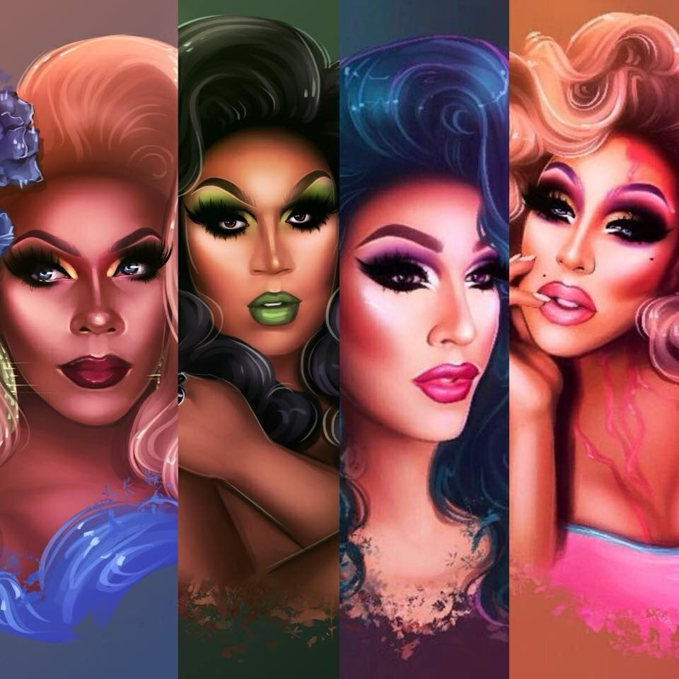 The Haus of LaRouge art by  vltchk on Instagram