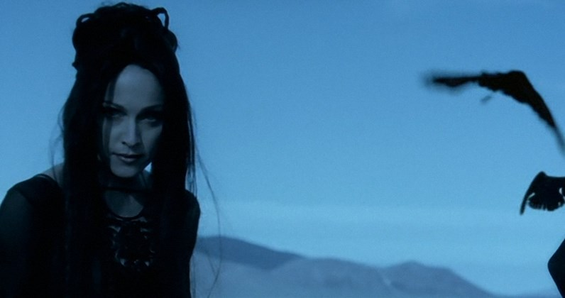 A still from the haunting music video.