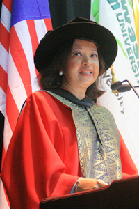 Datin paduka marina mahathir - honorary doctor of letters
