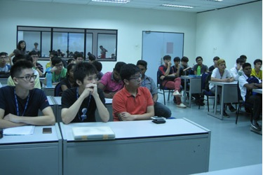 The PSDC students listen attentively