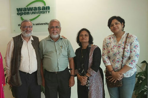 Prof Mohan with Dr Kuldeep (left).