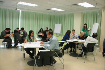 Participants engaging in group activities
