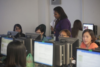 Hands-on activity at the Computer Lab.
