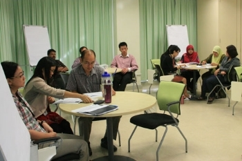 Participants at the training.