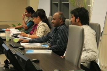 (From right): Vighnarajah, Prakash and Deehbanjli.