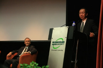 Tan Sri Dr Koh officiates the closing.