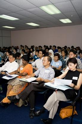 Tutors undergo training.