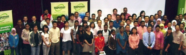 WOU's new students and staff at the orientation in Southern College, Johor Bahru.