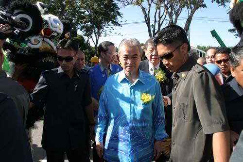 Prime Minister of Malaysia Datuk Seri Abdullah Ahmad Badawi arrives.
