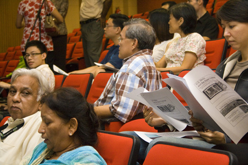 Part of the crowd at the talk.