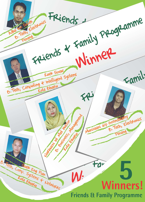 Friends & Family Programme winners