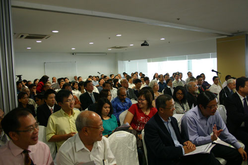Participants at the forum.