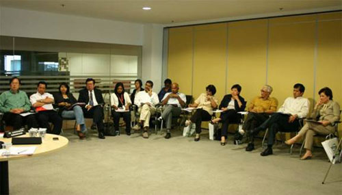 Part of the participants at the roundtable discussion.