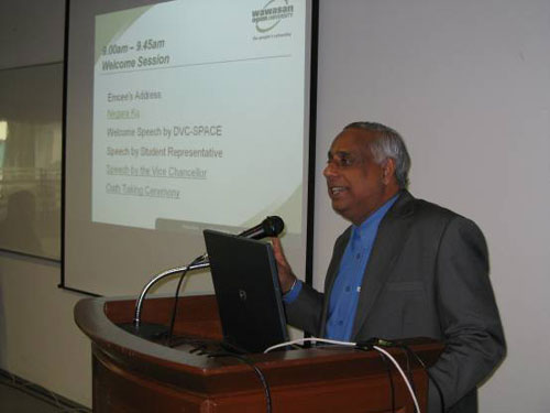 Deputy Vice Chancellor U K Menon.