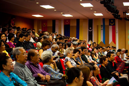 Part of the audience at the concert.