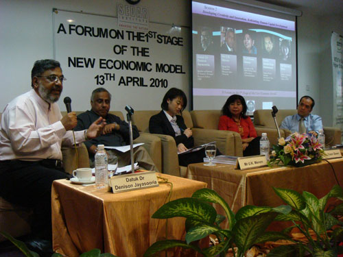 From left: Denison Jayasooria, U K Menon, Ng Yeen Seen, Prof Norma and Tunku Alizakri.