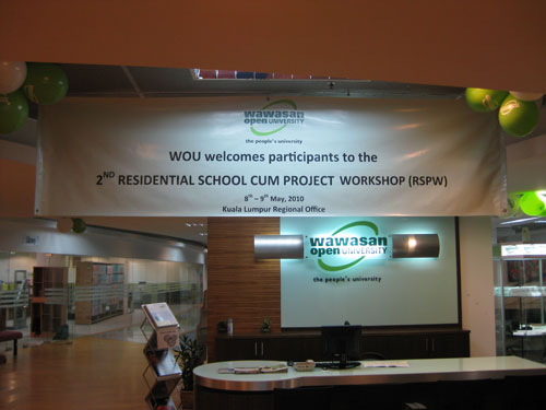 Banner at the Kuala Lumpur Regional Office welcoming the students.