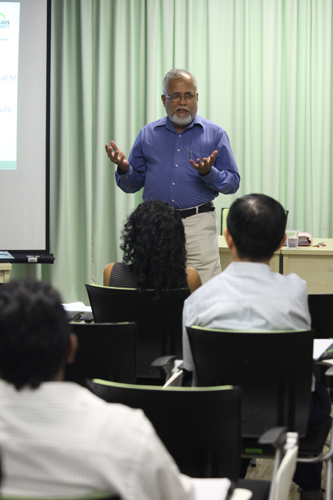 Prof Mohan says people must be motivated to learn.