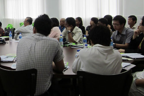 The staff learn about the various programmes offered.