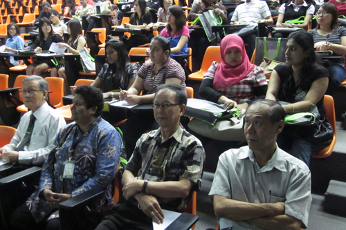 Students attend orientation in Johor Bahru.