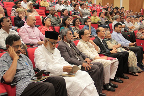 Part of the crowd at the lecture.