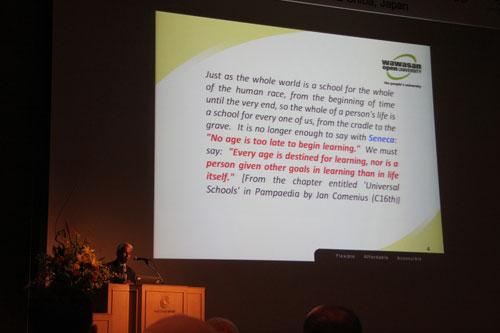 Prof Dhanarajan talks about OER.