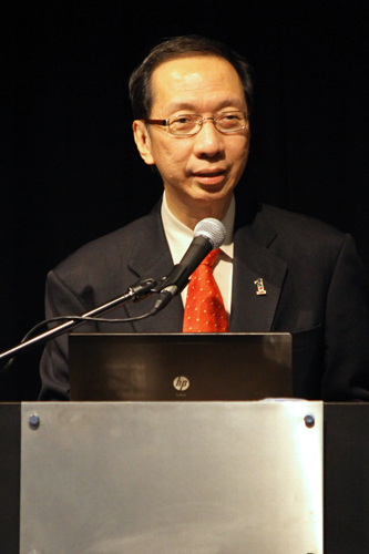 Tan Sri Dr Koh Tsu Koon speaks at the closing of a conference earlier this year.