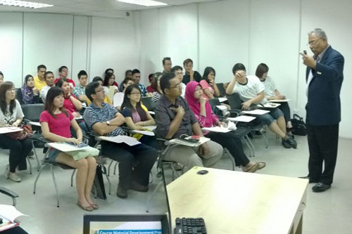 Prof Santhiram addresses the new students at IPRC.