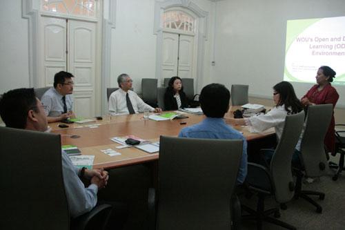 Prof Madhulika explains about the University's ODL model.