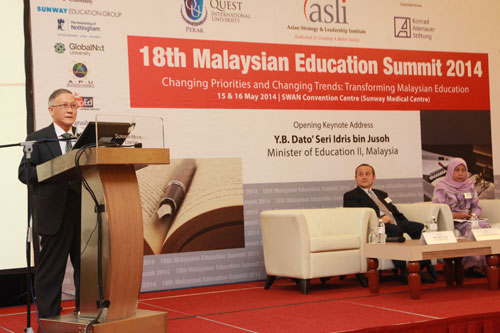 Prof Ho (left) speaks while co-panellist Prof Tengku Aizan Hamid (right) of Universiti Putra Malaysia listens.