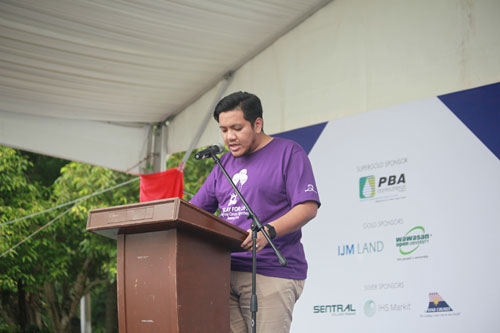 Dr Afif urges support for the fight against cancer.