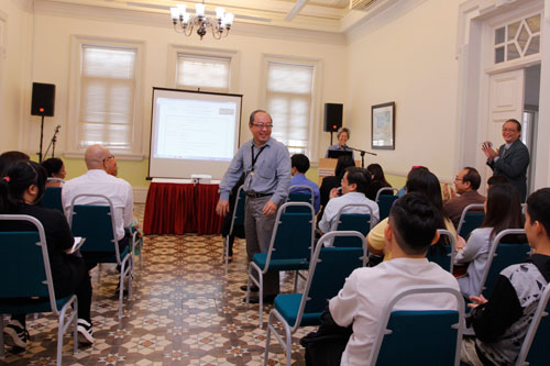 SBA Senior Lecturer Chong Fook Suan (centre, standing) is one of the academic advisors.