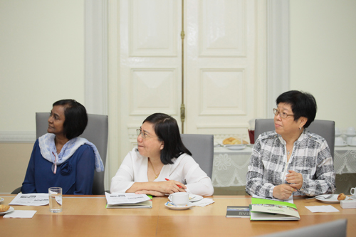 The delegation from Methodist Council of Education (from left): Dr Esther, Phoon and Qua.