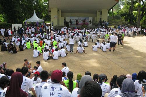 The participants enjoyed free food, drinks and various performances after the run.